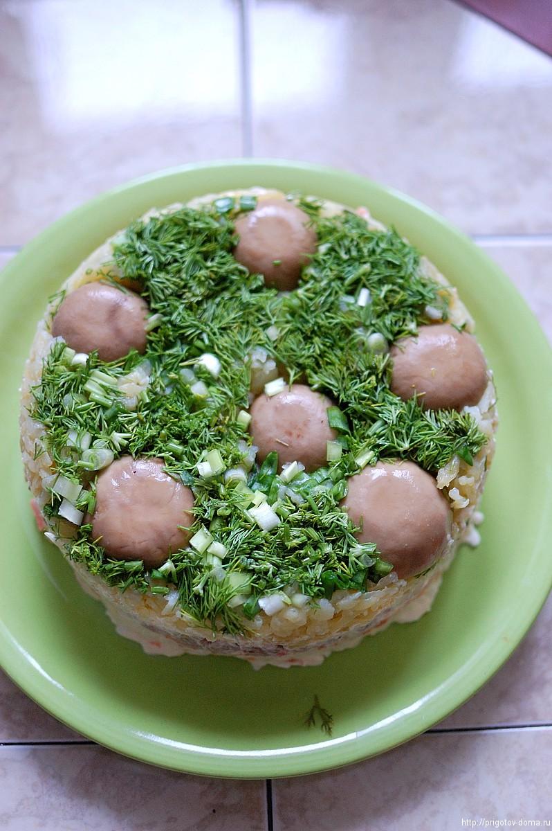 Грибы на поляне салат рецепт