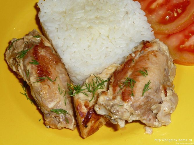 курица замаринованная в майонезе для жарки на сковороде рецепт