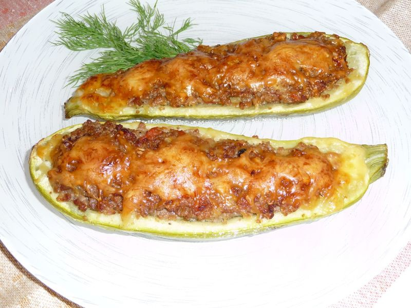 кабачки в духовке рецепты с фото с фаршем