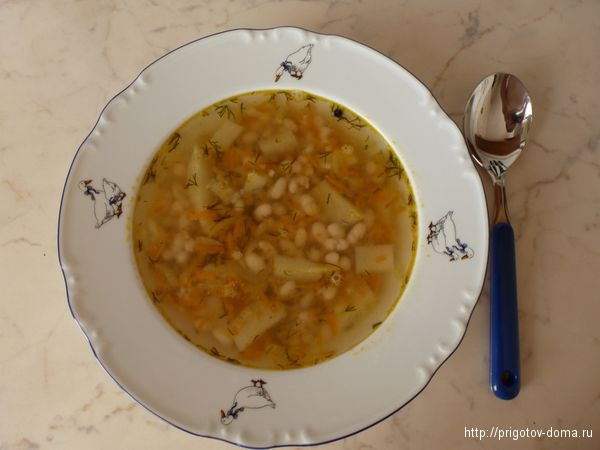 суп из белой фасоли видео