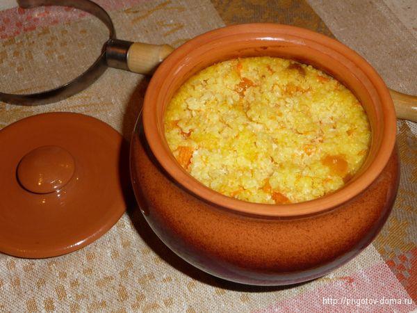 Каша с пшеном рисом и тыквой в мультиварке