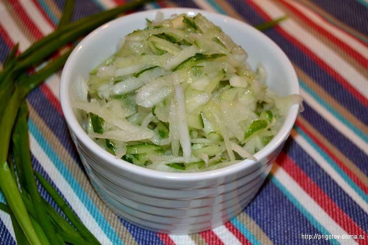 рецепты салатов из редьки с яблоком