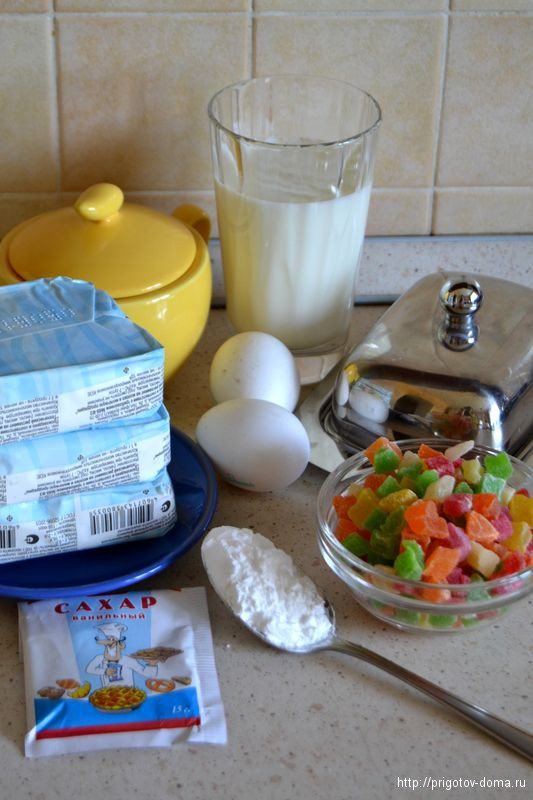 готовим творожную запеканку с цукатами