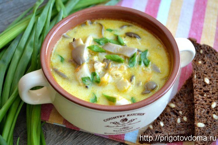 грибной суп с вешенками в мультиварке рецепт