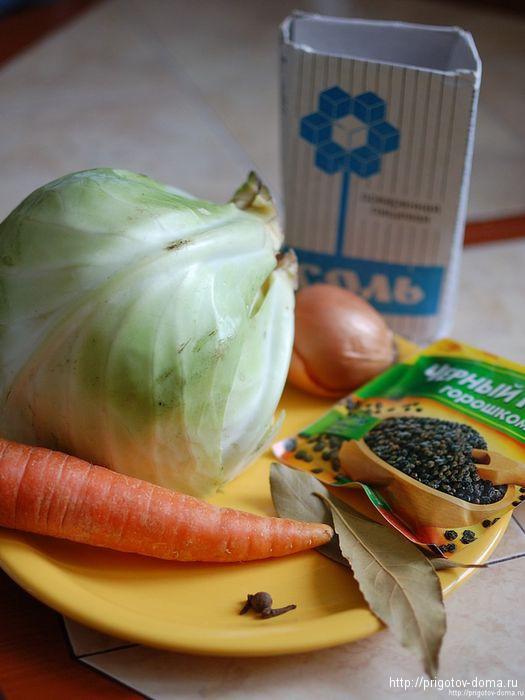 Ингредиенты для тушеной капусты