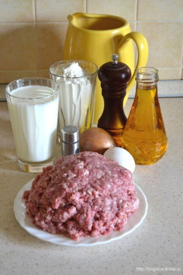 Ингредиенты для домашних чебуреков
