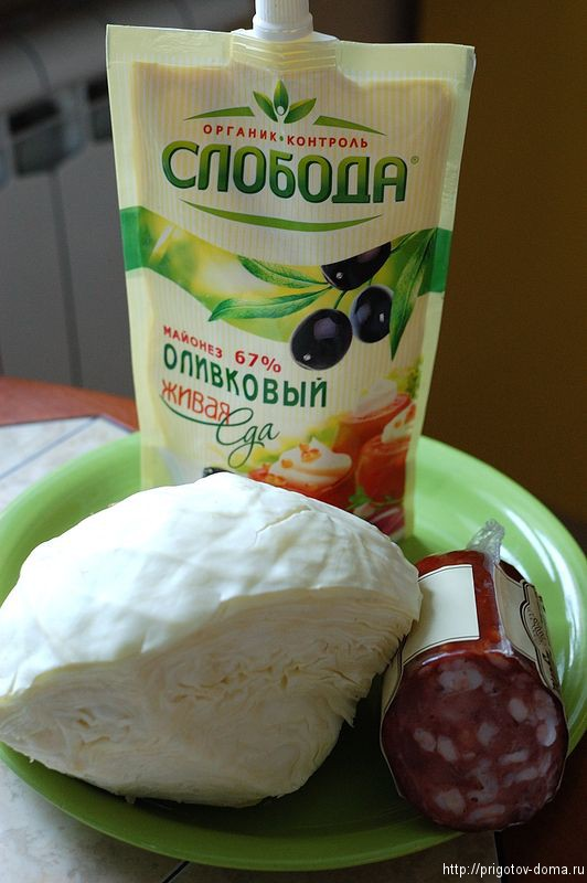 готовим салат Русский
