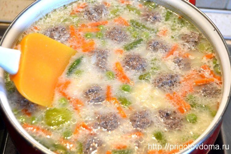 добавляем в сцп фрикадельки и сыр