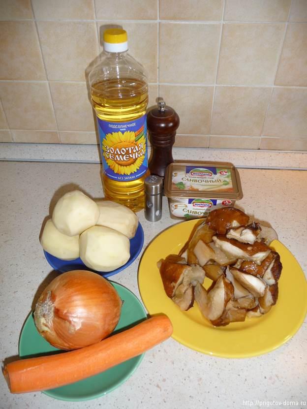 готовим сырный суп с грибами