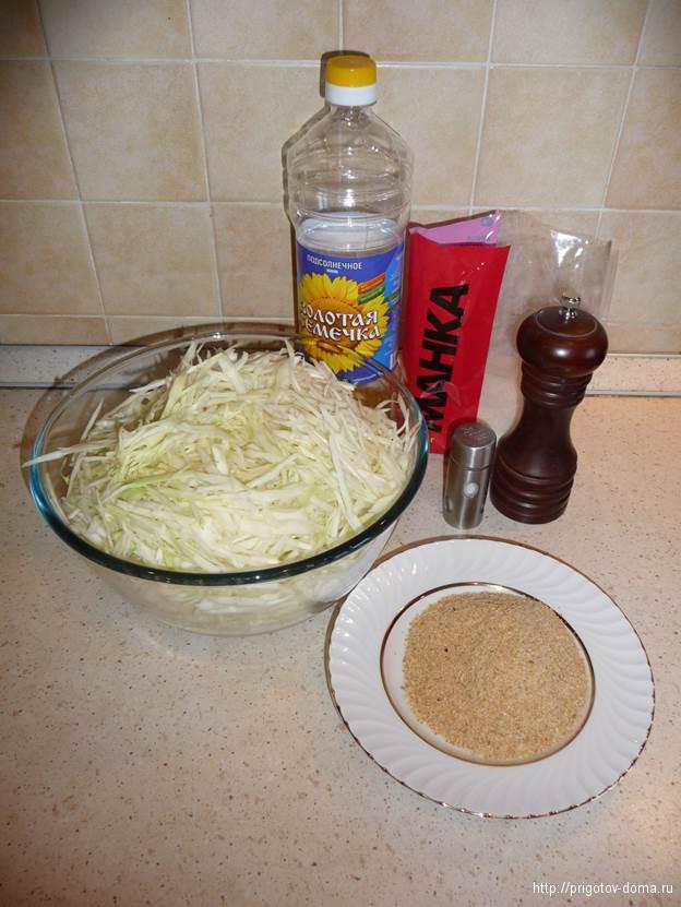 рецепт капустные котлеты с манкой