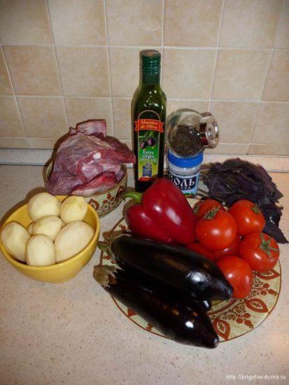 Ингредиенты для Аджаб-Сандал