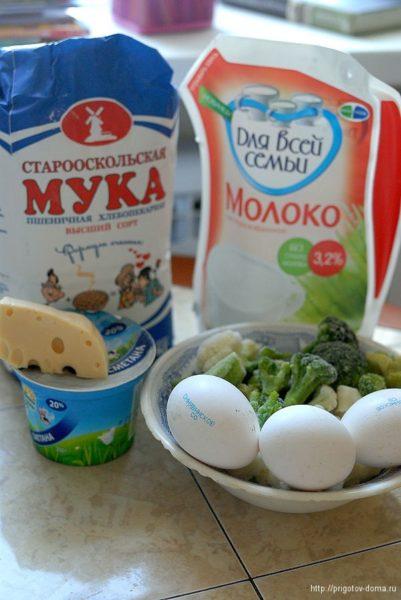 Ингредиенты для омлета с овощами
