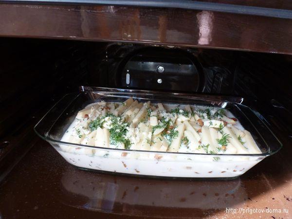 Ставим в духовку и запекаем при 180 градусах 40-45 минут