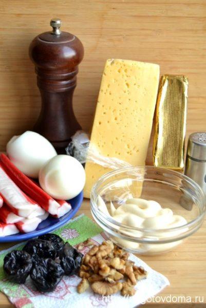 необходимые ингредиенты для салата «Черный жемчуг»