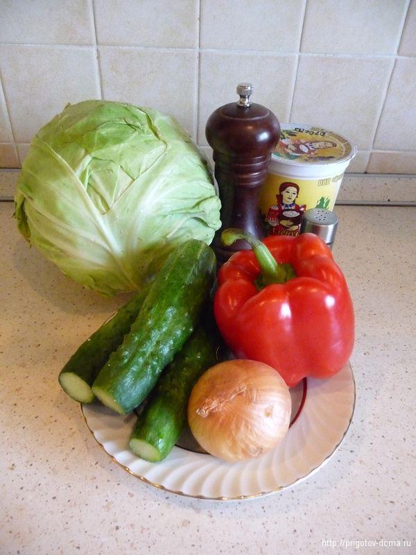 готовим салат из молодой капусты