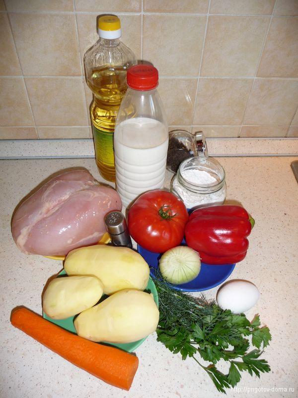 готовим дома куриный суп с клецками