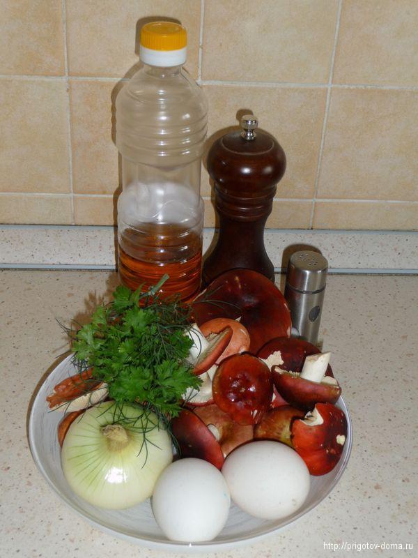 готовим сыроежки с яйцом
