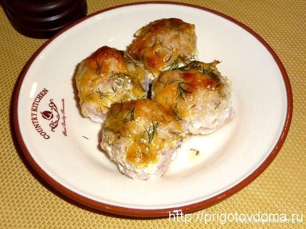 куриные тефтели в сливочно-сырном соусе