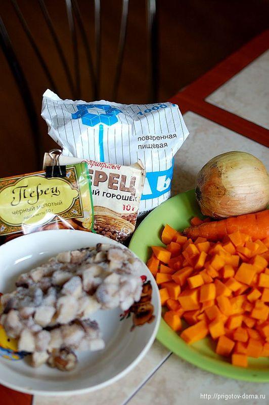 готовим рецепт тушеной тыквы с грибами
