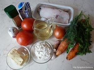 ингридиенты для норвежского супа из трески