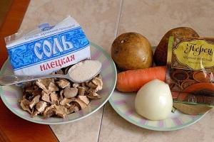 готовим суп из сушеных белых грибов