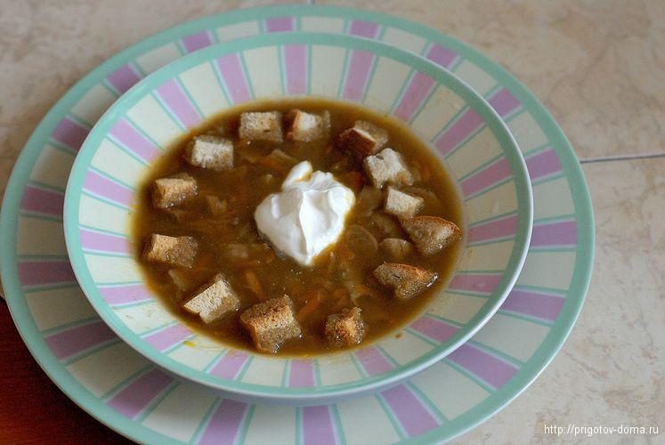 вкусный суп из сушеных белых грибов