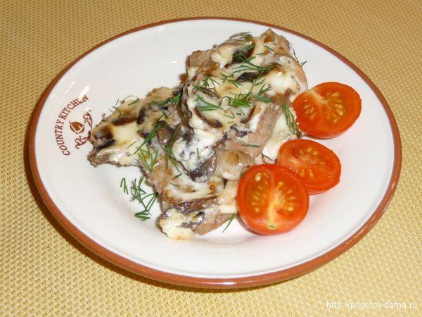 запеченная свинина с грибами рецепт