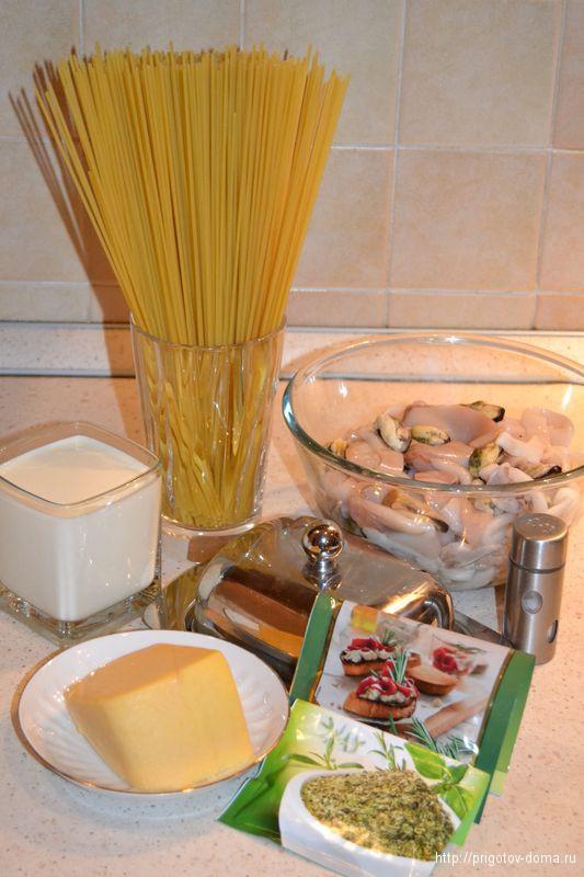 Готовим дома итальянскую пасту с морепродуктами