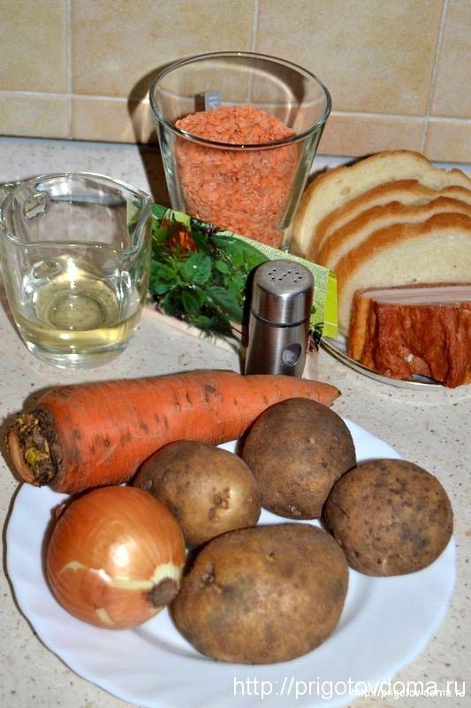 готовим суп пюре из чечевицы