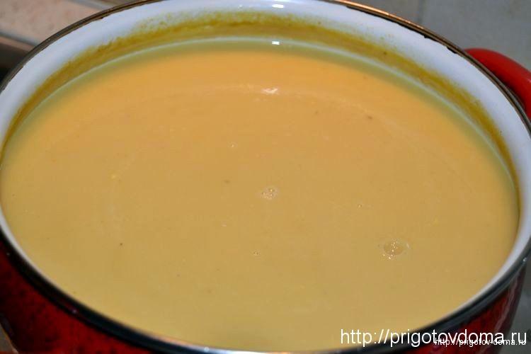 пюрируем блендером суп