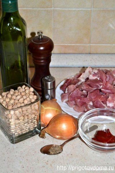 Ингредиенты для жаркого из свинины