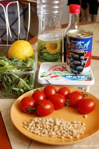 Ингредиенты для микс-салата