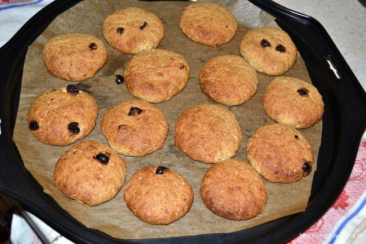 ставим печенье овсяное печенье в духовку