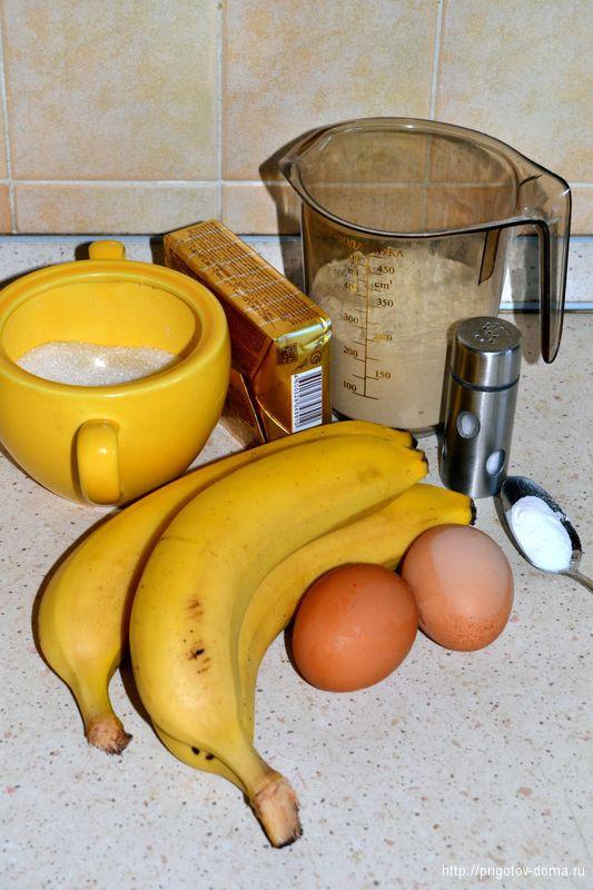 банановый кекс рецепт печем дома