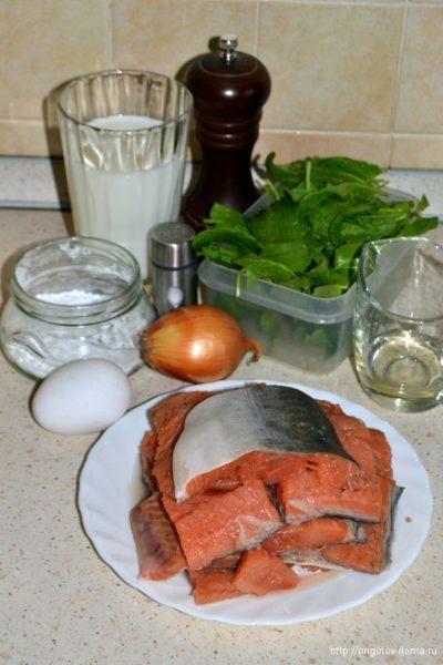 Ингредиенты для рыбы с щавелевым соусом