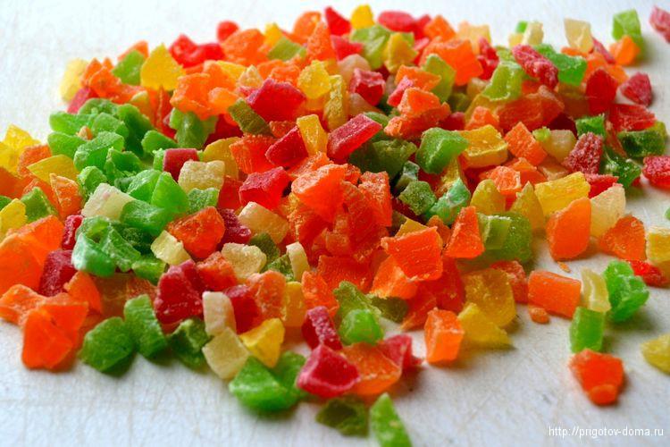 измельчаем цукаты