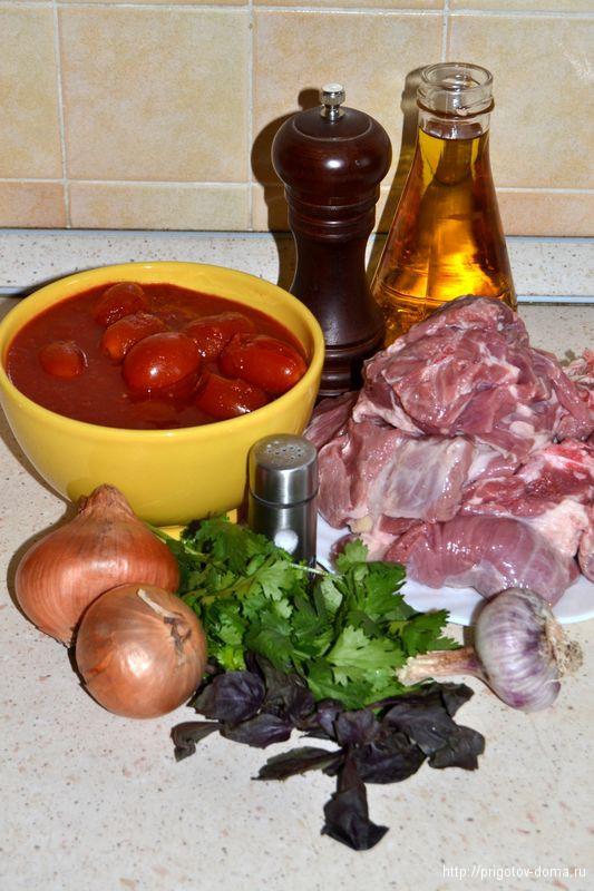 """Готовим рецепт """"Тушеная баранина в томатах"""""""