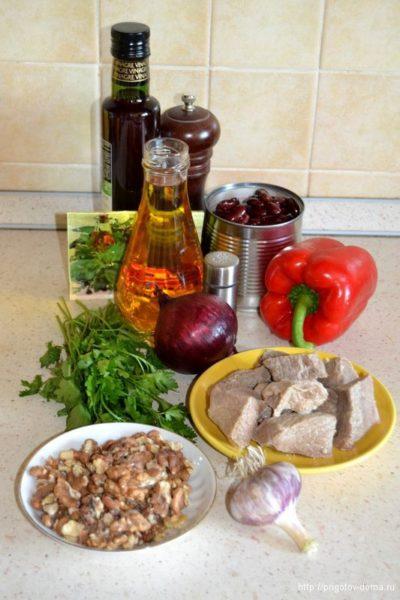 """Ингредиенты для салата """"Тбилиси"""""""