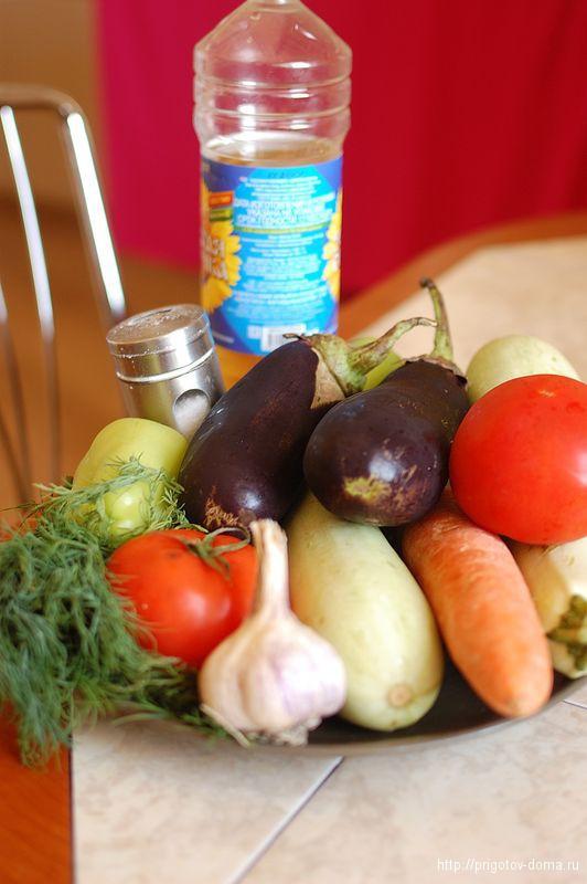 готовим овощное рагу кабачки баклажаны