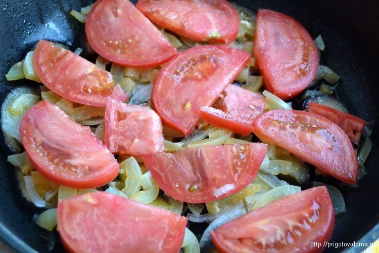 нарезами добавляем помидоры