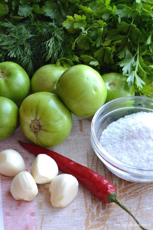 готовим зеленые помидоры по-грузински