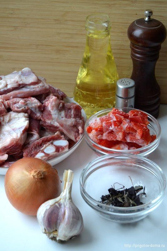 ингредиенты  для тушеной говядины