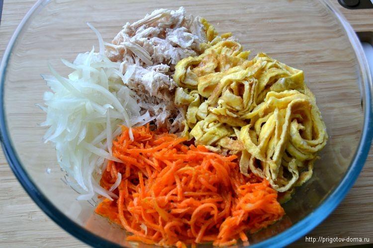 Складываем в салатник все ингредиенты