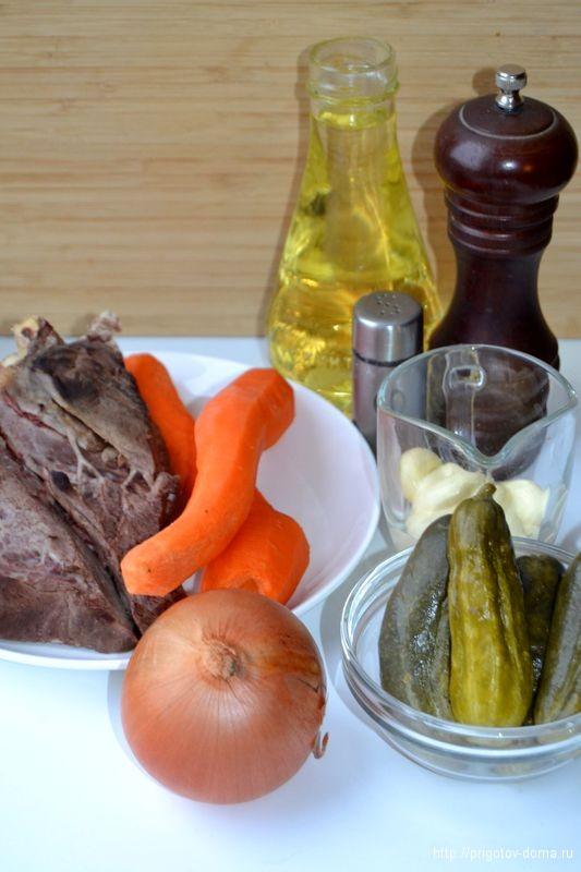 готовим салат с говяжьим сердцем