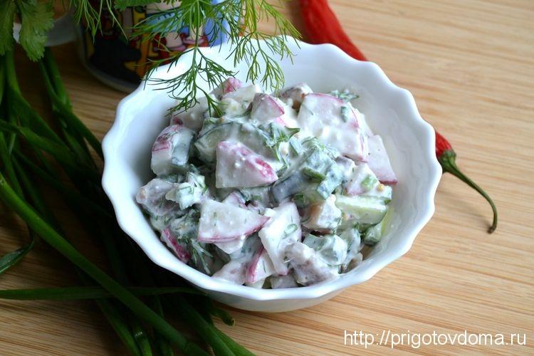 Финский салат с сельдью