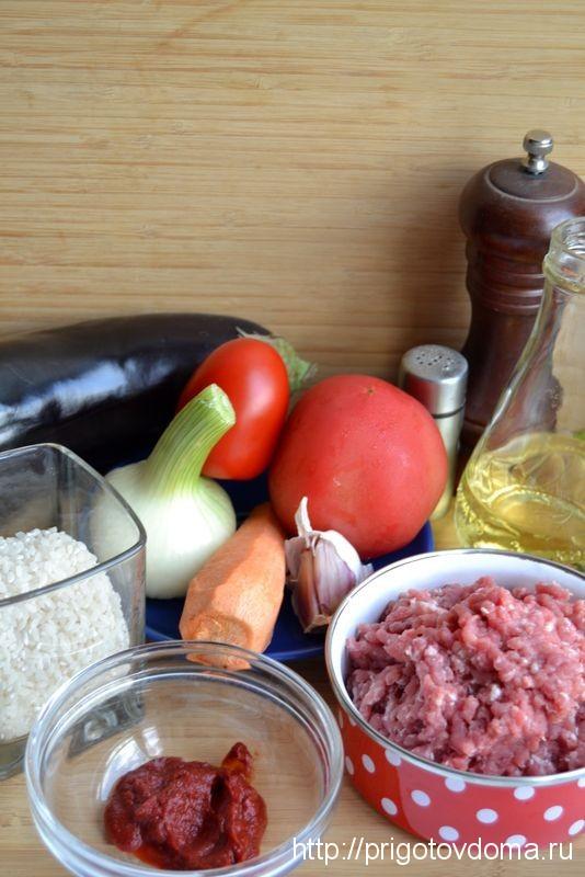 готовим тушеные баклажаны с рисом