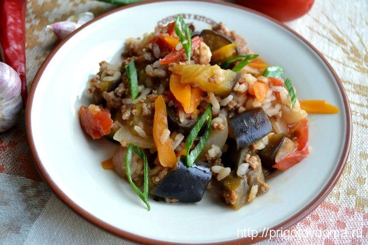 баклажаны с рисом