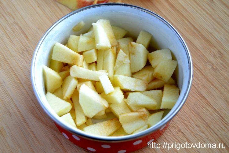 нарежем яблоко