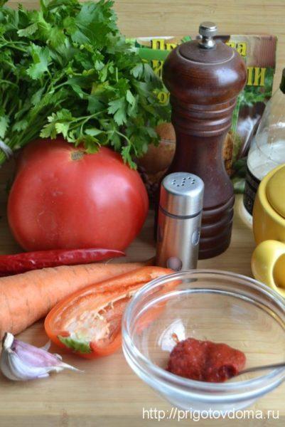 Ингредиенты для соуса Сацебели