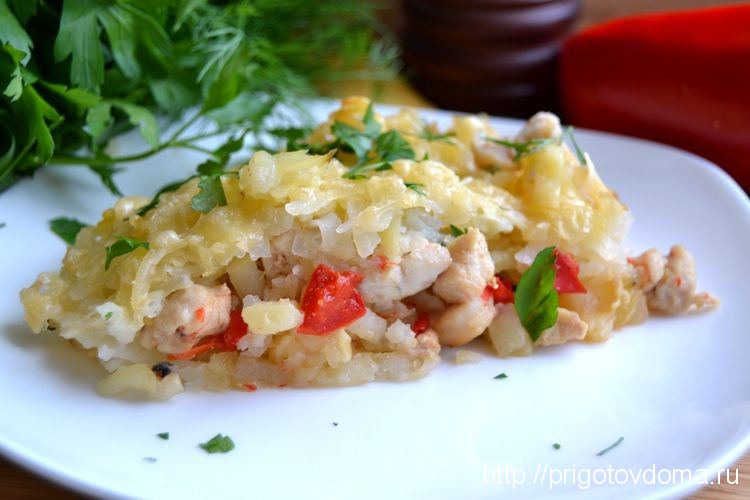 запеканка картофельная с мясом и овощами
